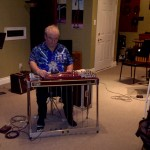 Mike Holynaty on the slide guitar